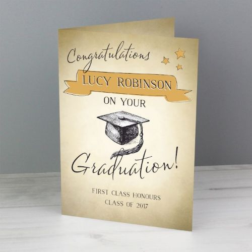 Gold Star Graduation Card